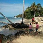 esapce plage à 5 mètres des chambres