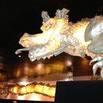 Dragons around the restaurant