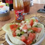 really delicious fresh conch salad made just for us