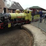 Steam Engine outside the Ratty Arms