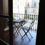 Balcony/terrace of the Gaudi room.