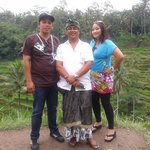 Nyoman with Malaysian friend