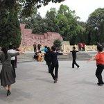 ladies dancing in the park