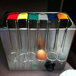 egg machine-  cool unless eggs very out of date :-(
