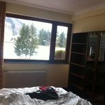 the room is facing the magnificent ski slopes