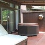 Fireside Loft hot tub