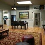 Fireside Loft living room/kitchen