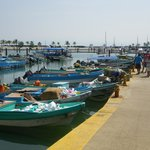 THE COLOUR FULL FISHING BOATS AT THE MARKET