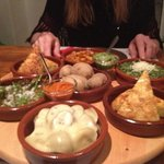 selection of veggie tapas