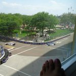 Nice view of the street car race from our hotel room