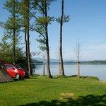Blick von der Zeltwiese auf den Simssee