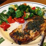 burned Salmon from Olive Garden Denton Texas