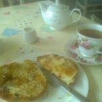 teacake and tea