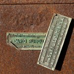 Details from the courtyard - old labels