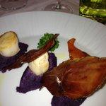 purea di patate viola con capesante