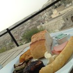 Restaurant area + panoramic view
