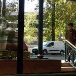Hotel entrance with doorman