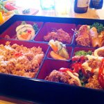 Chicken bento. Discription with my review.