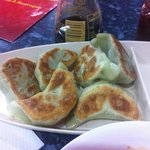 Chive dumplings. Were very average.