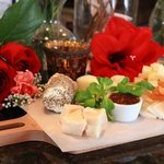 Our cheese platter, try the Gout Gouda!