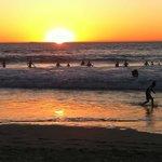 Trigg Beach heatwave sunset