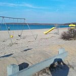 Playground on the beach.