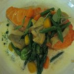 Scottish salmon entree