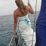 Bride on bow