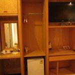 Small cupboard & tv
