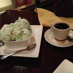 Pistachio Ice Cream and Ethiopian Coffee