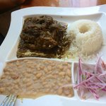Lamb with rice 'n beans (cabrito) really good and nice server :P