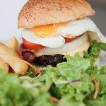 Enjoy burger (taken by our customer)