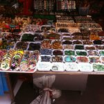stalls through the market