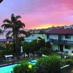 Sunset from Capri Apartments