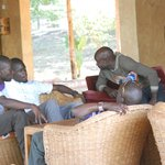Chilling out in the lounge at Simba Safari Camp