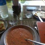 gazpacho et bruschetta au bord de la mer !!