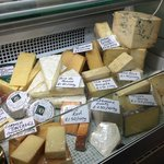 Some of our cheeses - mostly local with a few favourites from further afield.