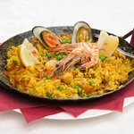 """Specialty dish """"Andalusian seafood paella """""""