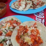 really tasty and cheap tacos over the street!
