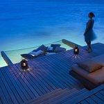 Water villa at night