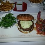 Veal burger with some kind of blue cheese. Exquisite!