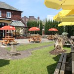 The Beer Garden at The Red Lion