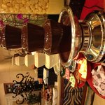 Breakfast buffet chocolate fountain