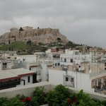 View of the Acropolis without zooming -dinning area