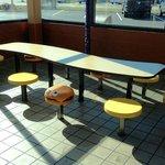 Kid table with hamburger stools