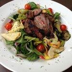 Lamb with Greek salad