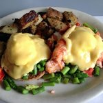 Lobster asparagus eggs Benedict! WOW!!