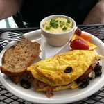 Build your own omelet with cheese grits