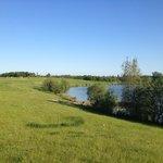 Just starting the walk round the lake.