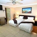 Golden Zebra suite 2-Twin beds Flat screen TV DSTV Limit towel heaters shower Mini Bar(cash)